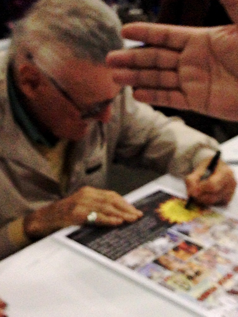Stan Lee signing COMIX poster